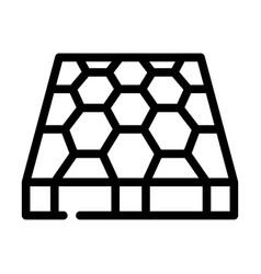 Sport ground floor layer line icon vector