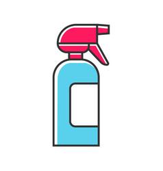 spray bottle color icon dump sprayer for hair vector image
