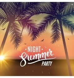 Summer night dance party Beach summer night party vector