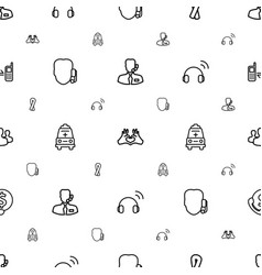 support icons pattern seamless white background vector image