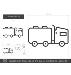 Tank truck line icon vector