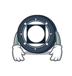 Tired byteball bytes coin mascot cartoon vector