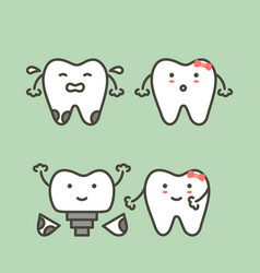 tooth implant - teeth change new root vector image