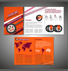 tyre brochure design vector image