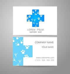 veterinary medicine logo template vector image
