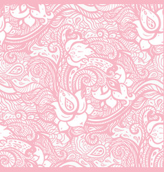 Vintage seamless pattern with abstract flowers vector