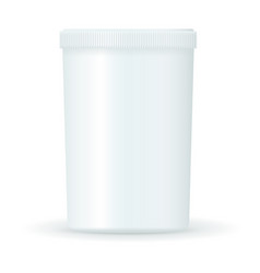 white medical bottle pills container vector image