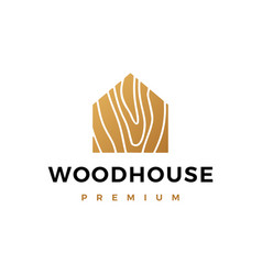 Wood house logo icon vector