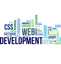 Word cloud web development vector