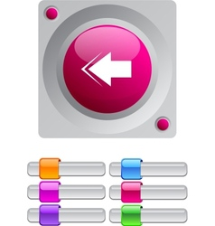 Back arrow color round button vector image