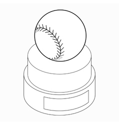 Baseball trophy icon isometric 3d style vector image