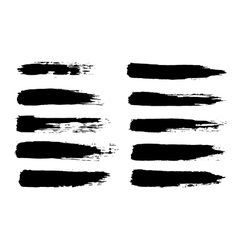 black grungy hand-painted vector image