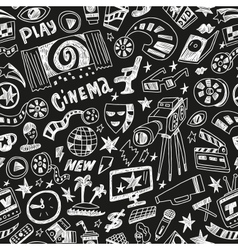 cinema - seamless background vector image