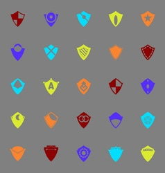 Design shield color icons on gray background vector image vector image