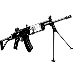 machine gun vector image vector image