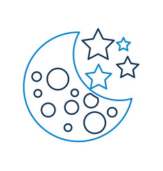 moon stars galaxy astronomy universe science vector image