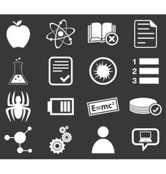 Science icon set 1 monochrome vector image vector image