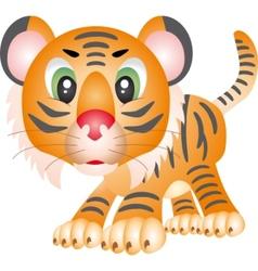 tiger cartoon vector image vector image