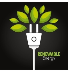 clean energy design vector image vector image