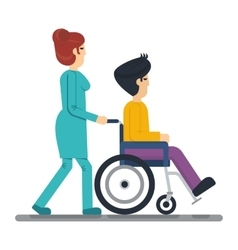health care man in wheelchair vector image vector image
