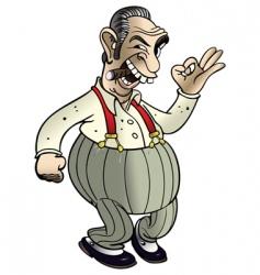 mafia boss cartoon vector image vector image