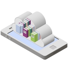 Mobile library on screen smartphone vector image