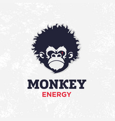 Modern professional sign logo monkey energy vector