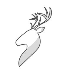 profile deer icon vector image vector image