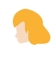 profile woman romantic image vector image vector image