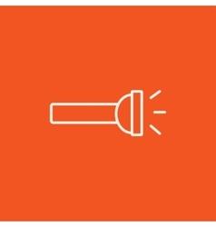 Flashlight line icon vector image