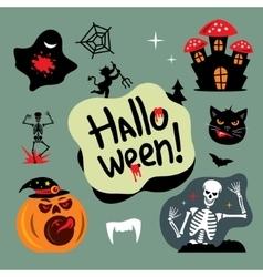 Halloween Graveyard Cartoon vector image vector image