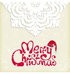Merry christmas snowflake background vector image vector image