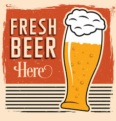 colorful fresh beer poster vector image vector image