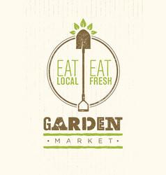 garden market food concept eco local food vector image