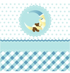 seamless baby boy pattern vector image vector image