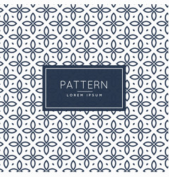 Abstract floral style line pattern background vector