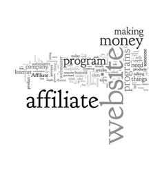 affiliate programs a tool for webmasters to earn vector image
