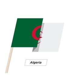 Algeria Ribbon Waving Flag Isolated on White vector image