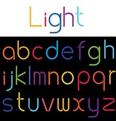 alphabet set 04 vector image