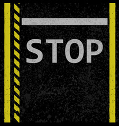 asphalt stop road sign vector image