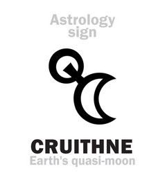 astrology cruithne earths quasi-moon vector image