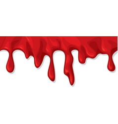 Blood dripping or flowing vector