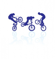 BMX riders vector image