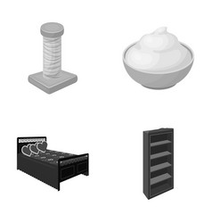 Business industry furniture and other monochrome vector