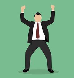 Business Man Celebrating vector