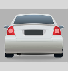 Car template on white background vector