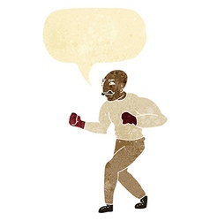 cartoon boxer with speech bubble vector image
