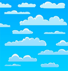 Cartoon Cloud Pattern vector