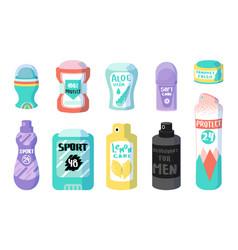 Cartoon deodorant antiperspirant cosmetic vector