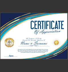 Certificate retro design template 02 vector